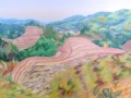 Pink-hills-Yunnan-云南粉红色的山丘150-x-50cm-copy