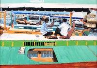 Board Talk Dubai Cunningham oil on board 81 x 66cm