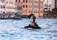 Dirham Passage Dubai Cunningham oil on canvas 120 x 92 cm