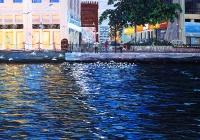 Bird Watchers Bur Dubai Cunningham acrylic on canvas 130 x 102 cm Acrylic on canvas
