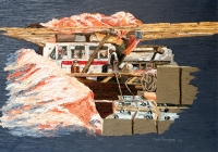 Cargo Break Dubai Cunningham oil on Linen 50 x 38 cm
