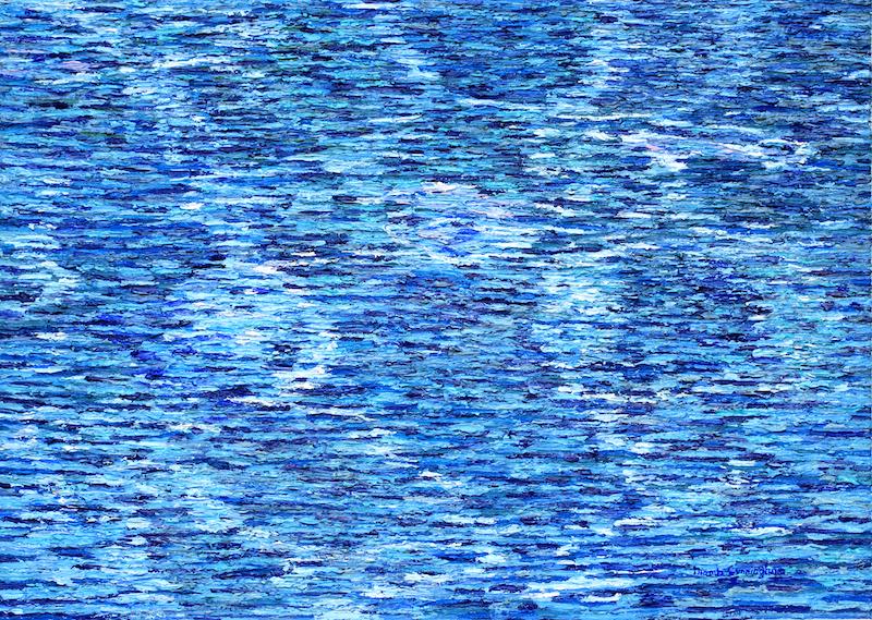 Water N Cunningham Oil on canvas 60 x43xm