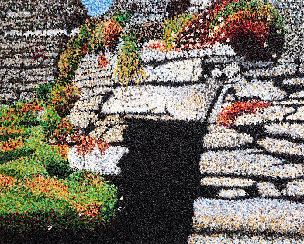 Skellig Hut Oil on Canvas (peaks) Niamh Cunningham