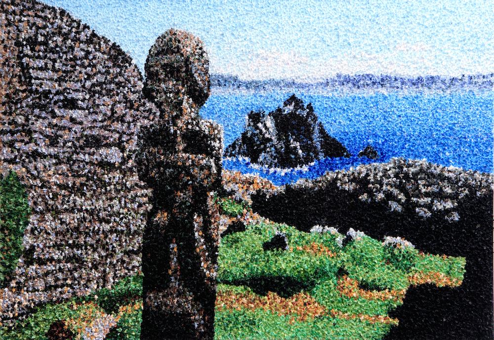 Skelligs Oil on Canvas (peaks) Niamh Cunningham