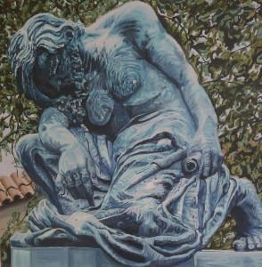 Moses dreams of Adam Prague Cunningham Acrylic on canvas  50x 50 cm