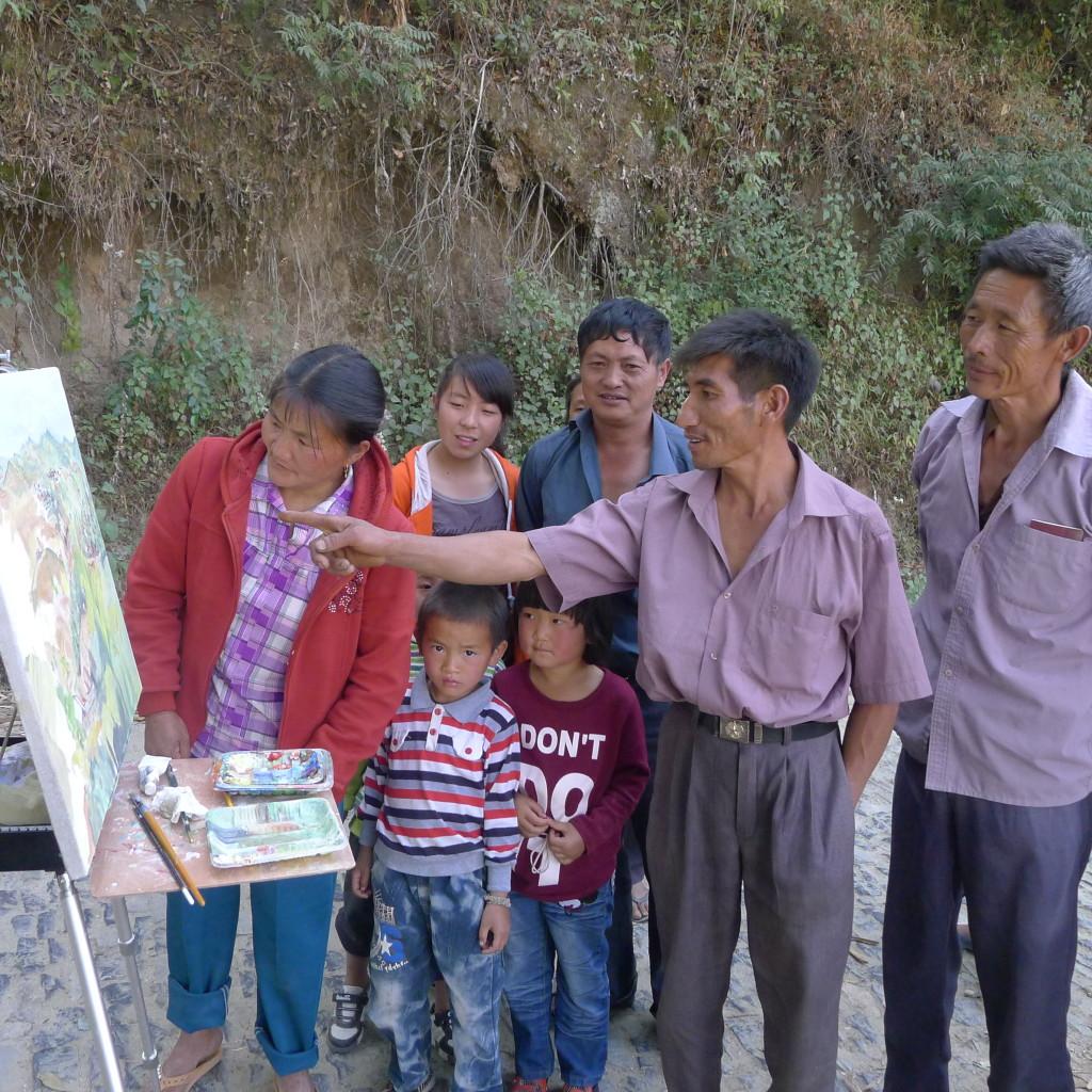 Yunnan Villagers inspect their fields- Niamh Cunningham