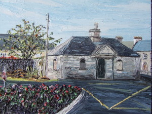 *Gate house St Dympnas 26 x 26 cm