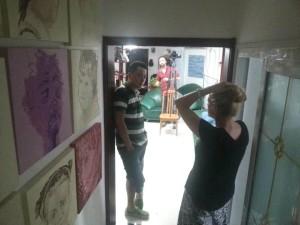 Talking to Wang QF before studio shoot
