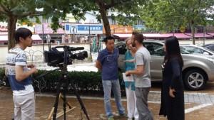 outside workshop 66 with Xu QF David Tain Hua