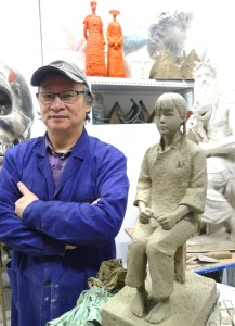 Pan Yiqun  clay model for Comfort women project in Korea