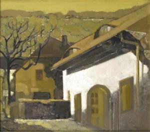 Huang Azhong 07-庭院 70×80cm copyweb size