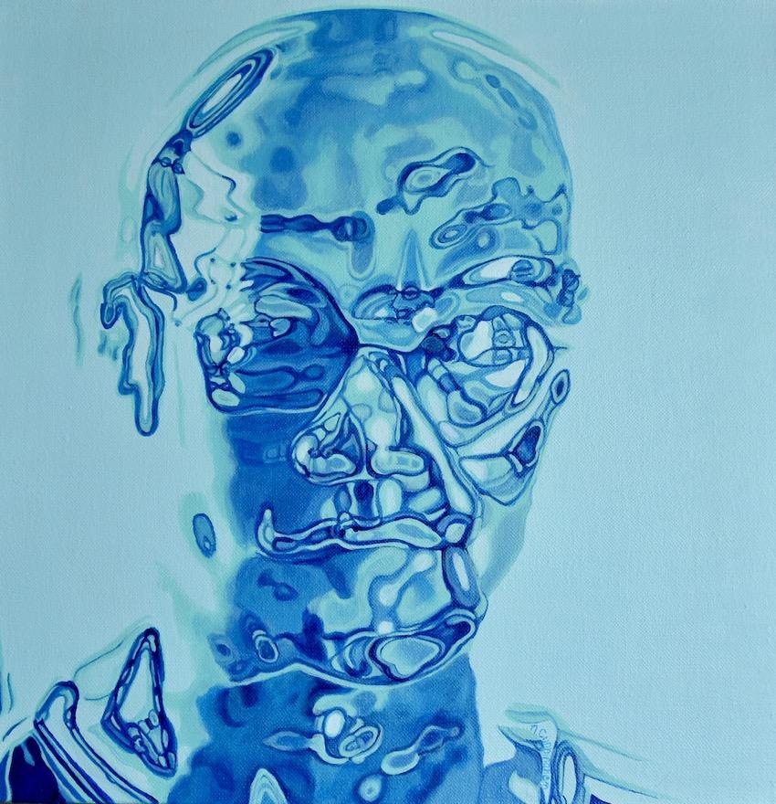 Eagle  acrylic on canvas 50 x50 cm Niamh Cunningham