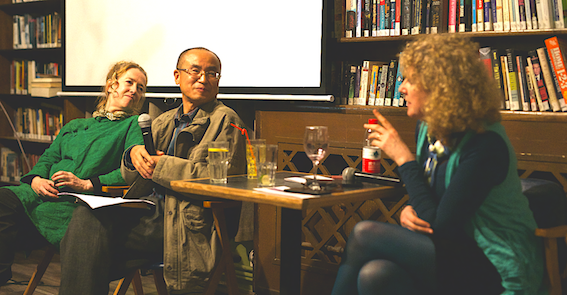 Beijing Bookworm talk on James Joyce with Prof Fu Hao , Niamh Cunningham and FIon Gunn