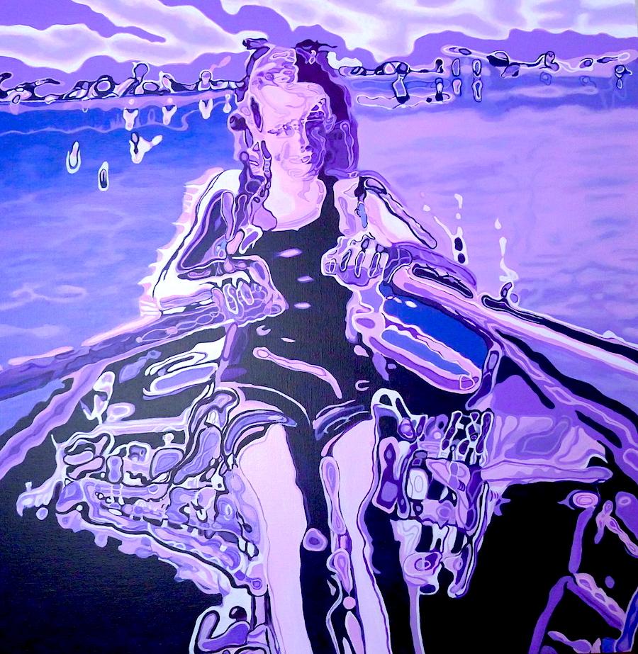 Bachmann Girl, Acrylic on canvas , 100 x 100 cm Niamh Cunningham