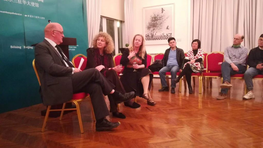 Ambassador Eoin O Leary hosted a highly enjoyable evening, a  conversation on James Joyce
