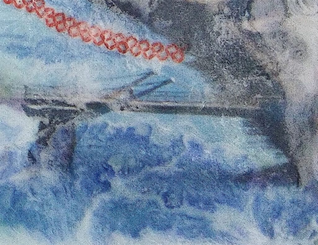 Sam Beckett Bridge detail Sucrose mixed media March 2018