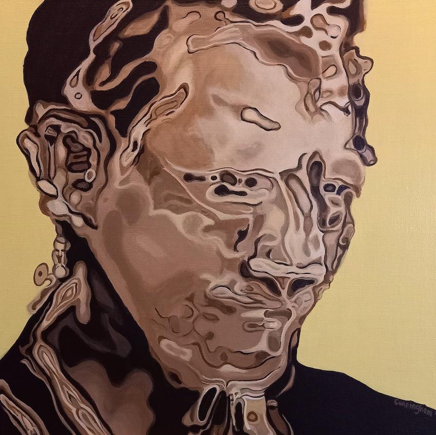 Boiler NC , 50x50cm acrylic on canvas Niamh Cunningham