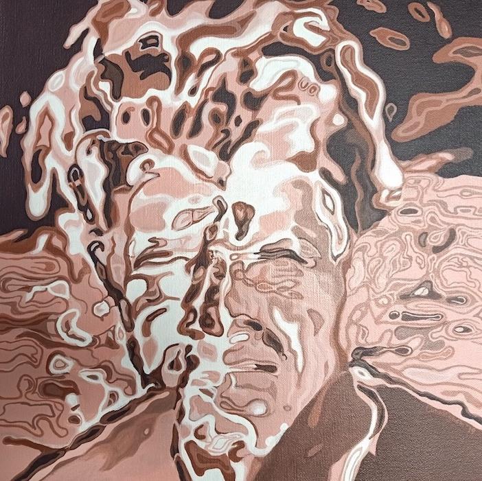 Ferryman.DC acrylic on cnavas 50x50cm Niamh Cunningham